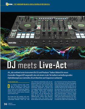 Dj meets Live-Act: Roland DJ-808