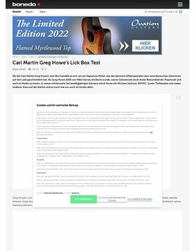 Carl Martin Greg Howe's Lick Box