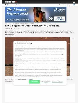 Raw Vintage RV-PAF Classic Humbucker NCO Pickup