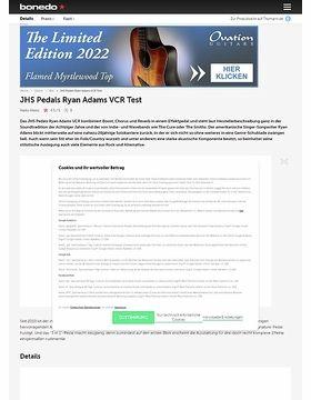 JHS Pedals Ryan Adams VCR Test