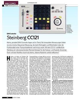 Steinberg CC121 Controller, MR816 Interface, Cubase 4.5