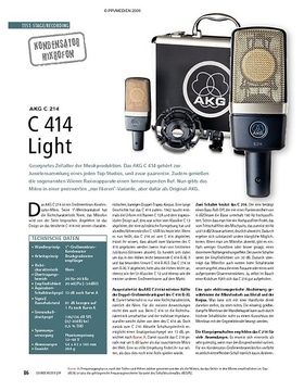 Test: AKG C 214 – C 414 Light