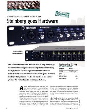 Steinberg CC121 / MR816 X / MR816 CSX: Steinberg goes Hardware