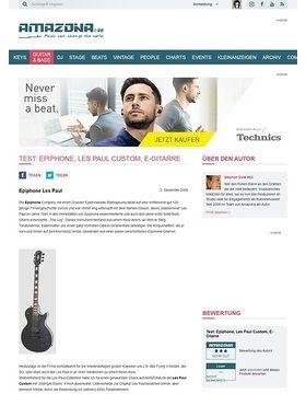 Test: Epiphone, Les Paul Custom, E-Gitarre
