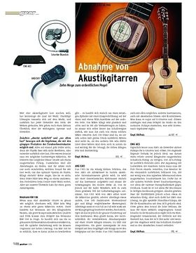 Gear: Abnahme von Akustikgitarren - Zehn Wege zum ordentlichen Pegel