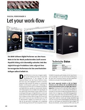 Let your work-flow – Digital Performer 6
