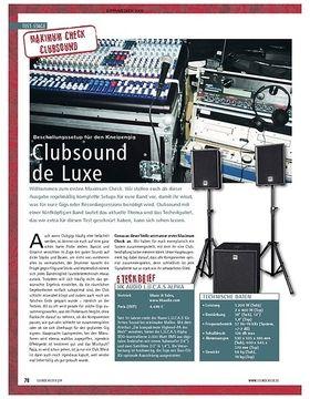 Test: Maximum Check (Clubsound) – Clubsound de Luxe