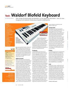 Test: Waldorf Blofeld Keyboard
