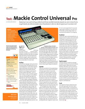 Test: Mackie Control Universal Pro