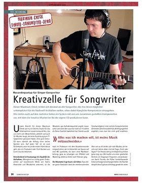 Maximum Check: Recordingsetup für Singer-Songwriter – Kreativzelle für Songwriter