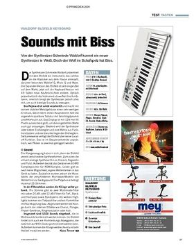 Test: Waldorf Blofeld Keyboard - Sounds mit Biss