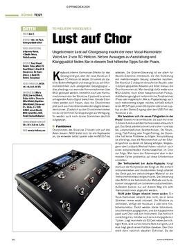 Test: TC-Helicon VoiceLive 2 - Lust auf Chor