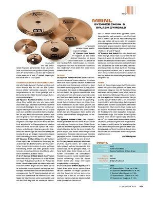 Sticks Meinl Byzance China & Splash Cymbals