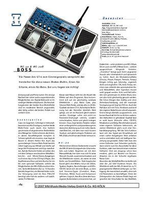 Gitarre & Bass Boss ME-20 & ME-20B, Multieffekt-Pedale