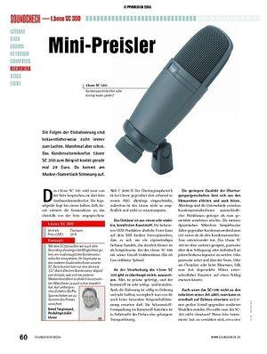 Soundcheck Test: t.bone SC 300 - Kondensatormikrofon