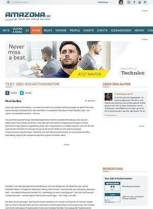 Amazona.de Test: QSC K10 Aktivmonitor
