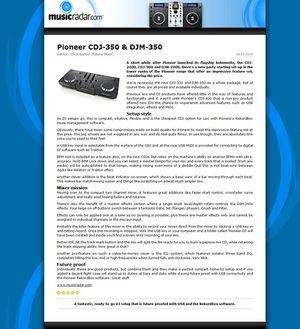 MusicRadar.com Pioneer CDJ-350 & DJM-350