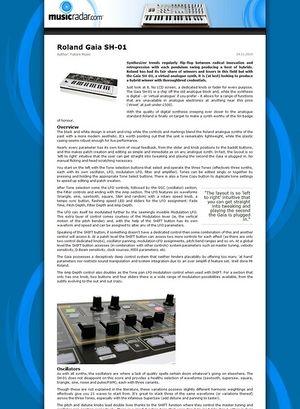 MusicRadar.com Roland Gaia SH-01