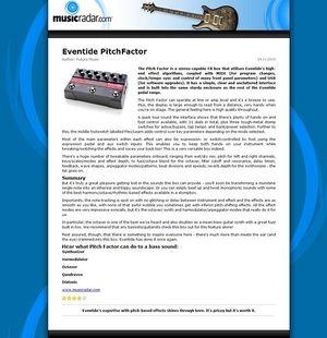 MusicRadar.com Eventide PitchFactor