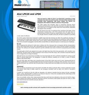 MusicRadar.com Akai LPK25 and LPD8