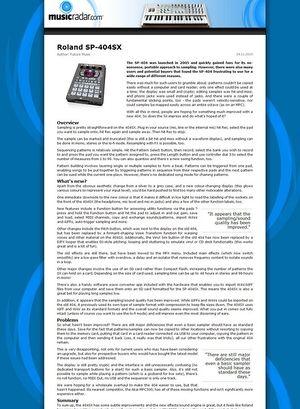 MusicRadar.com Roland SP-404SX