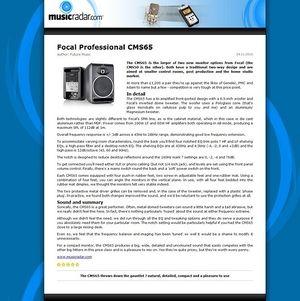 MusicRadar.com Focal Professional CMS65