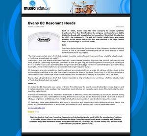 MusicRadar.com Evans EC Resonant Heads