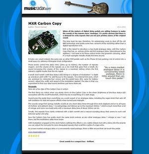 MusicRadar.com MXR Carbon Copy
