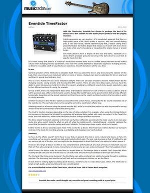 MusicRadar.com Eventide TimeFactor
