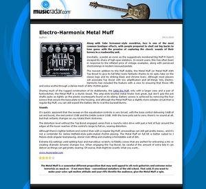 MusicRadar.com Electro-Harmonix Metal Muff