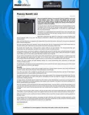 MusicRadar.com Peavey Bandit 112