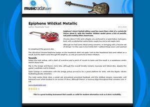 MusicRadar.com Epiphone Wildkat Metallic