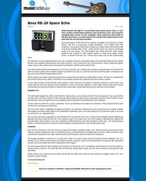 MusicRadar.com Boss RE-20 Space Echo