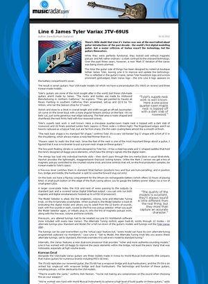 MusicRadar.com Line 6 James Tyler Variax JTV-69US