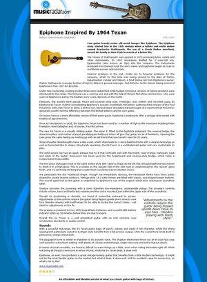 MusicRadar.com Epiphone Inspired By 1964 Texan