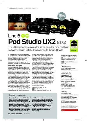 Computer Music Line 6 Pod Studio UX2