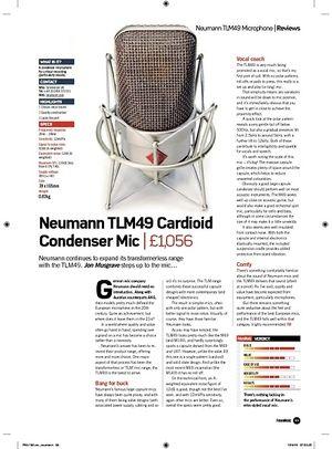 Future Music Neumann TLM49 Cardioid Condenser Mic