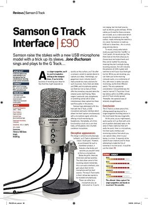 Future Music Samson G Track Interface