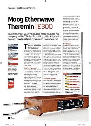 Future Music Moog Etherwave Theremin
