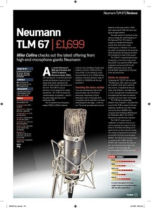 Future Music Neumann TLM 67