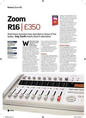 Future Music Zoom R16