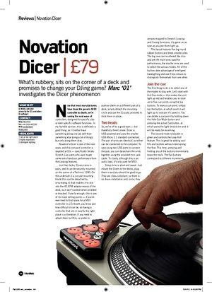 Future Music Novation Dicer