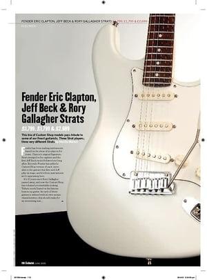 Guitarist Fender Eric Clapton Signature Strat