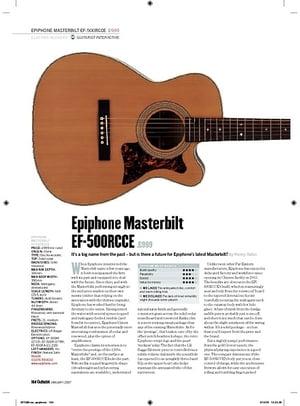 Guitarist Epiphone Masterbilt EF500RCCE