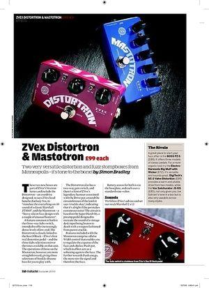 Guitarist ZVex Mastotron