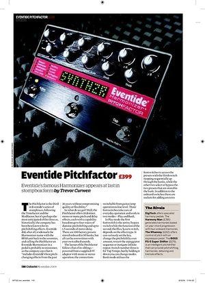 Guitarist Eventide Pitchfactor