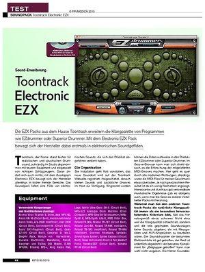 KEYS Toontrack Electronic EZX