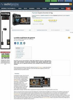 Audiofanzine.com Toontrack Superior Drummer 2.0