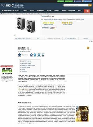 Audiofanzine.com Focal CMS 40