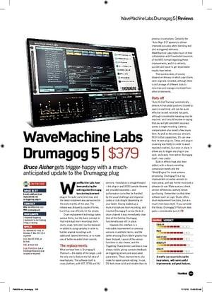 Future Music WaveMachine Labs Drumagog 5